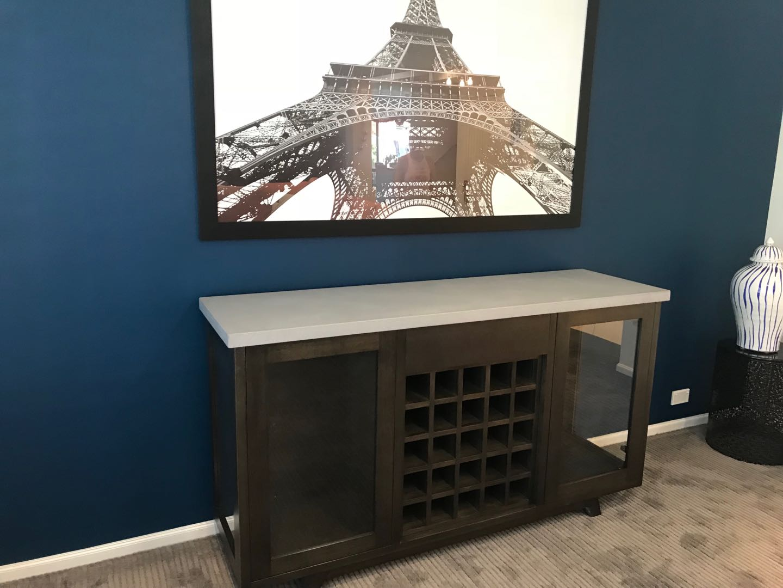 Concrete Top Wine Cabinet
