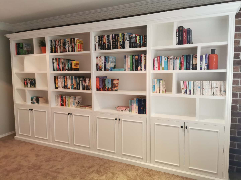 Hampton Style Book Case Wall Unit
